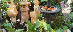 Statues and features for indoors or out